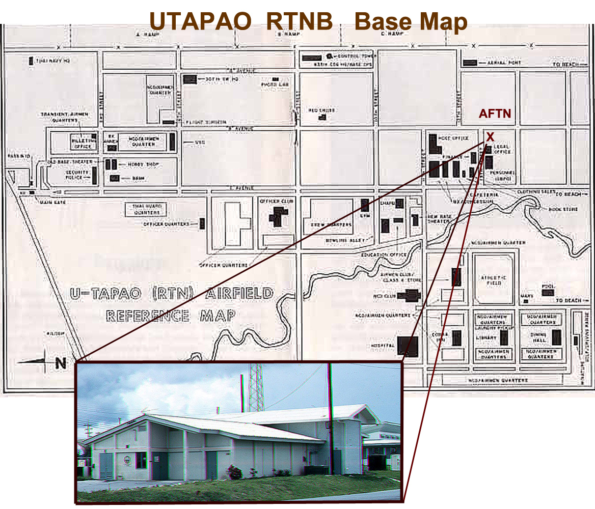 Location of AFTN Utapao Station