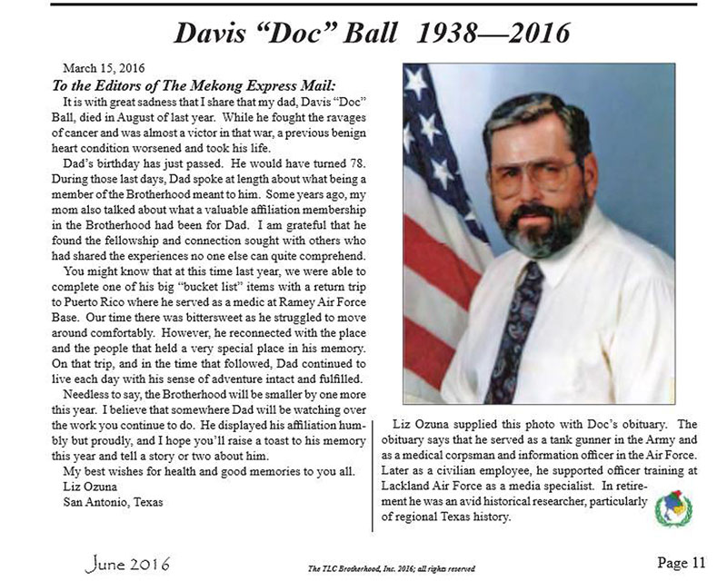 Doc Ball - In Memoriam - 2016 - TLB