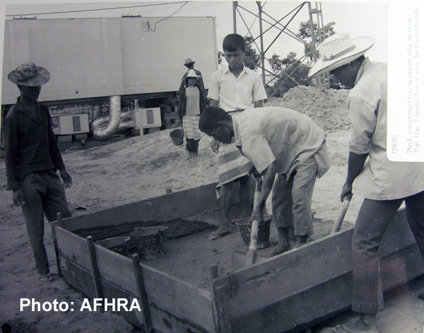 Site work for AFTN Ubon TV 1968
