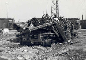 wreckage of aftn station